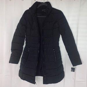 INC BLACK Mid length Puffer Coat Size XS